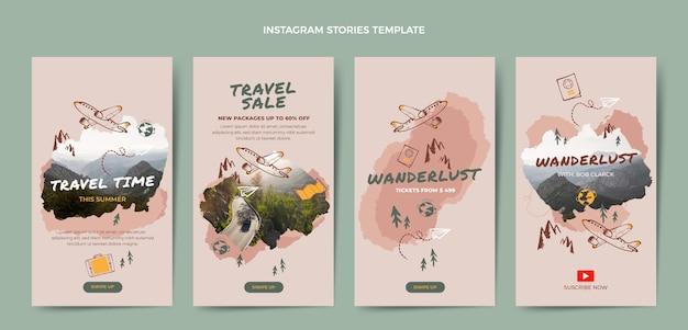 Histórias de viagens desenhadas à mão