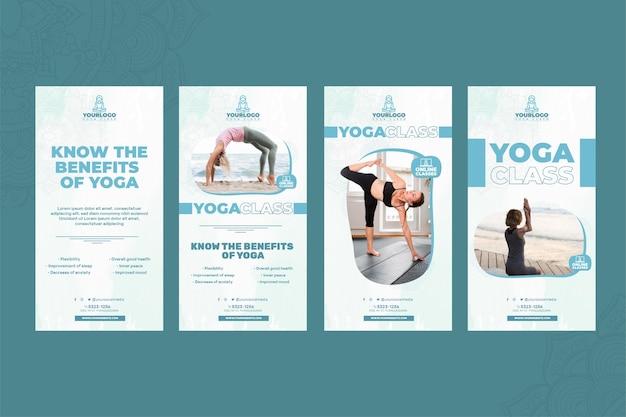 Histórias de yoga no instagram