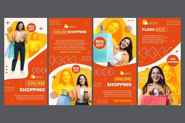 Histórias do instagram de compras online