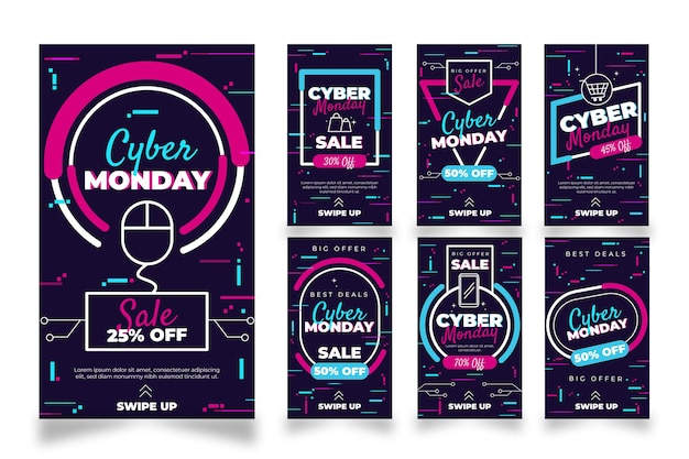 Histórias do instagram de cyber monday