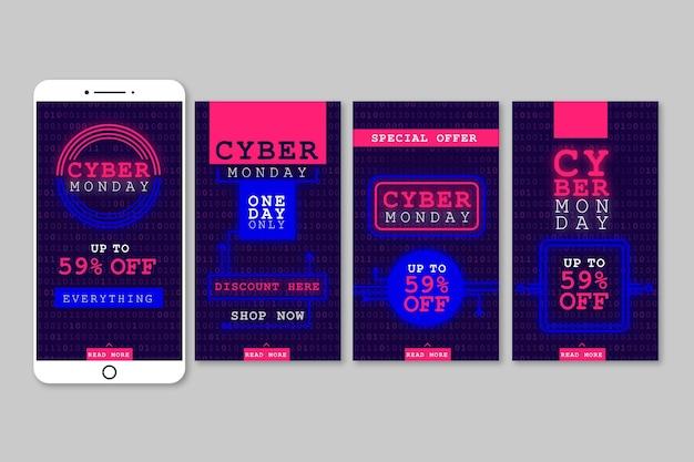 Histórias do instagram de cyber monday