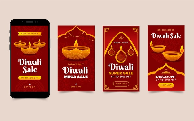 Histórias do instagram de diwali sale