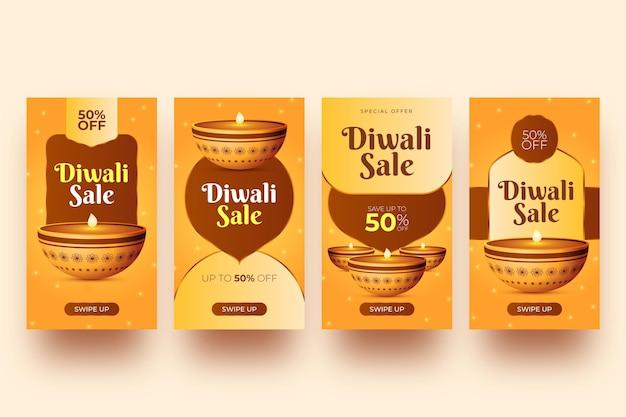 Histórias do instagram de diwali sale