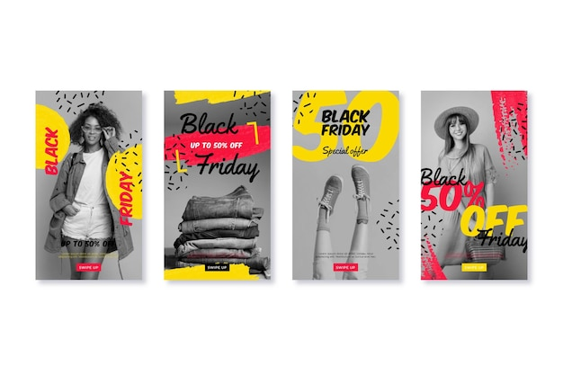 Histórias do instagram de sexta feira desenhada à mão