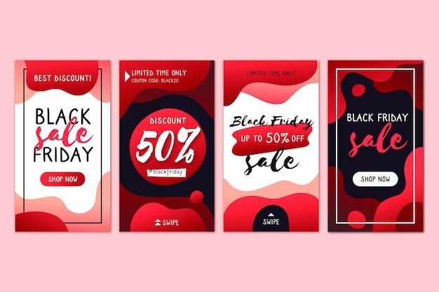 Histórias do instagram de sexta-feira negra gradiente