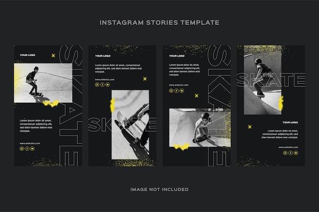 Histórias do instagram de skateboard