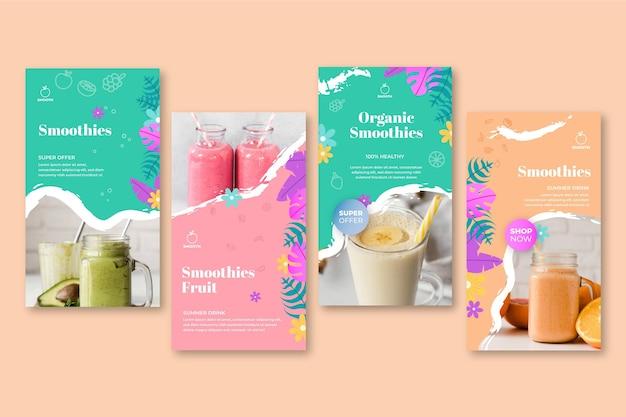 Histórias do instagram de smoothies