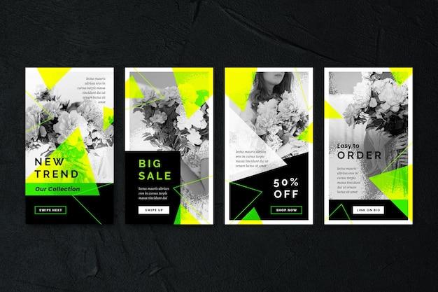 Histórias do instagram de venda de ácido