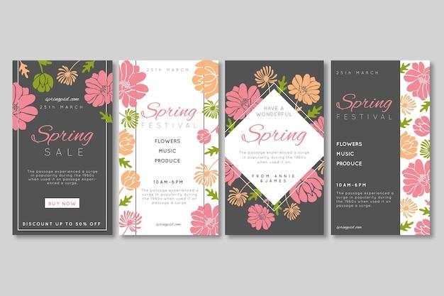 Histórias do instagram de venda plana da primavera