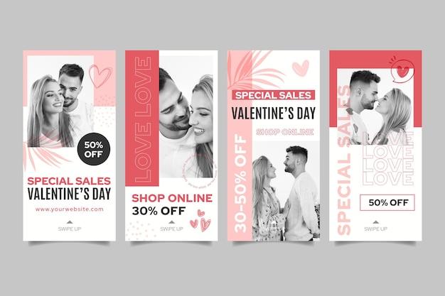 Histórias do instagram de vendas do dia dos namorados