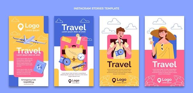 Histórias do instagram de viagens planas