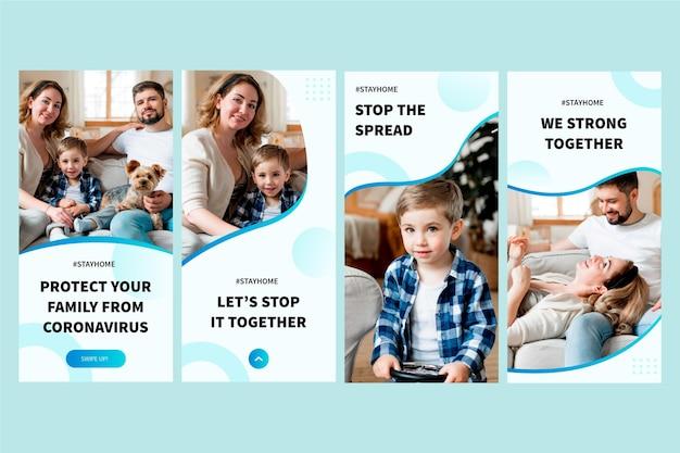 Histórias do instagram do coronavirus