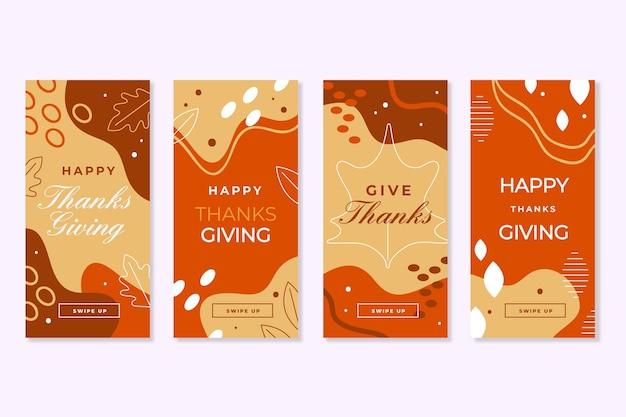 Histórias do instagram do dia de ação de graças