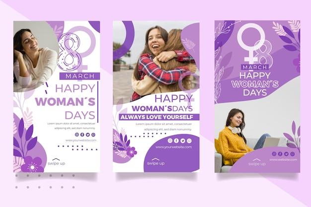 Histórias do instagram do dia internacional da mulher