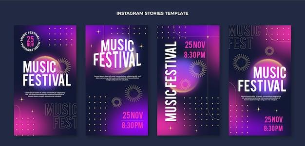 Histórias do instagram do festival de música gradiente