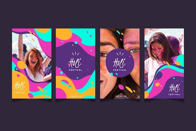 Histórias do instagram do flat holi festival