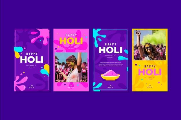 Histórias do instagram do holi festival