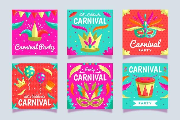 Histórias do instagram para festa de carnaval