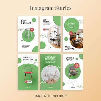 Histórias do instagram para promoção de móveis