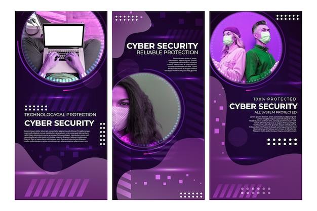 Histórias do instagram sobre segurança cibernética