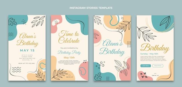 Histórias ig planas mínimas de aniversário