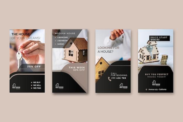 Histórias imobiliárias do instagram