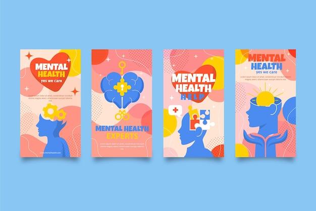 Histórias instagram de saúde mental plana