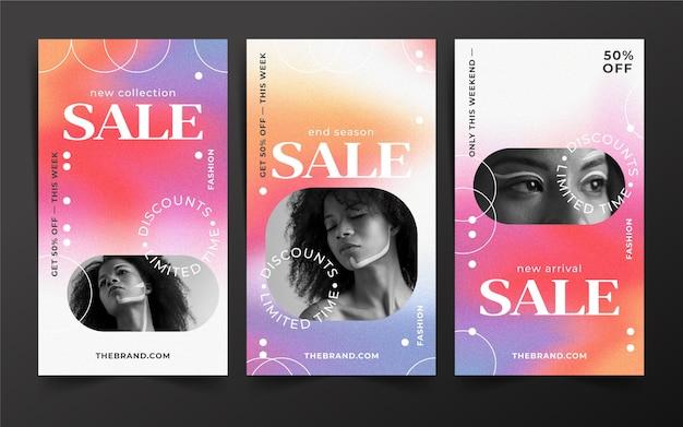 Histórias instagram de venda plana