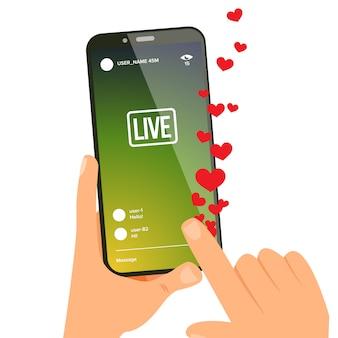 Histórias, mãos com telefone celular