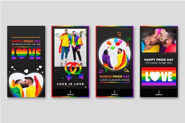 Histórias realísticas do instagram do dia do orgulho