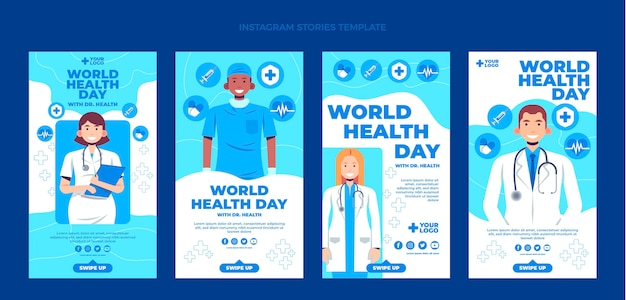 Histórias simples de instagram médicos