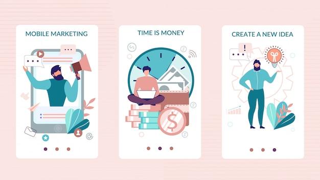 Histórias sociais móveis definidas para aplicativos de negócios