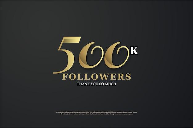 Histórico de 500 mil seguidores com números únicos