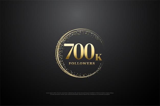 Histórico de 700 mil seguidores com números
