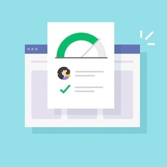 Histórico de informações de habilidades pessoais e boa avaliação de dados