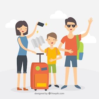 Histórico de viagens com a família