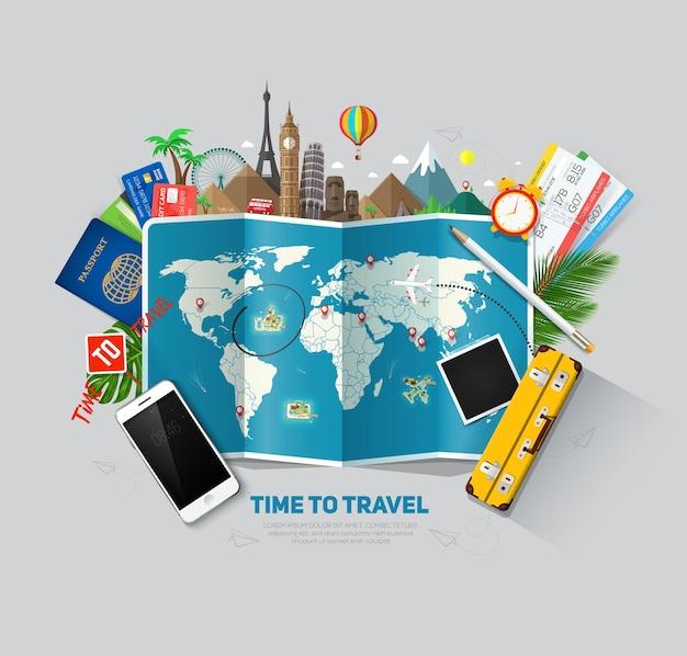 Histórico de viagens e turismo