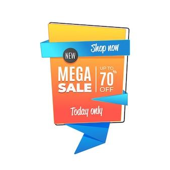 Hoje apenas mega venda em estilo origami