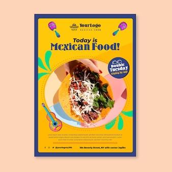 Hoje é modelo de panfleto de comida mexicana
