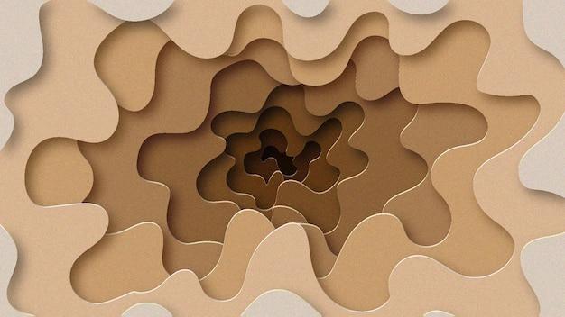 Hole papercut background