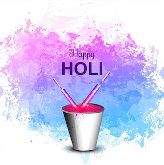 Holi festival colorido fundo de celebração