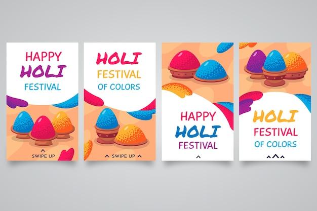 Holi festival instagram post conjunto