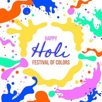 Holi festival manchas de tinta colorida