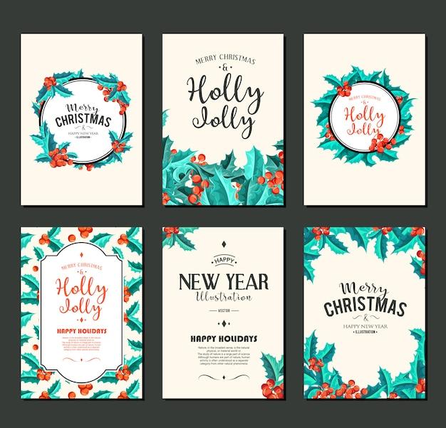 Holly jolly - conjunto de bandeiras de natal.