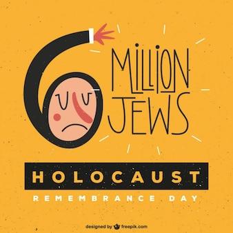 Holocausto amarelo lembrar fundo do dia