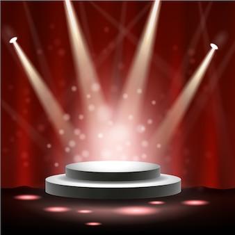 Holofote brilhando no palco