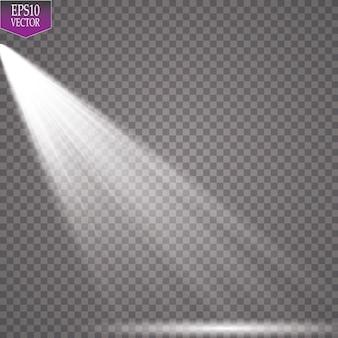 Holofote. efeito mágico de luz