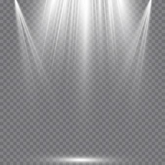 Holofotes. cena. efeitos de luz.