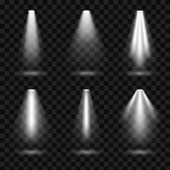 Holofotes de iluminação brilhante