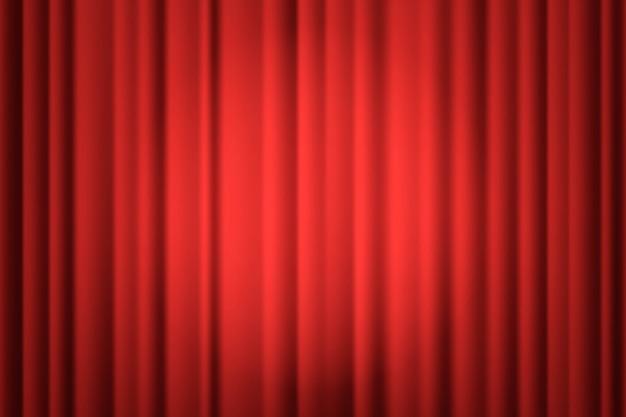 Holofotes na cortina do palco.